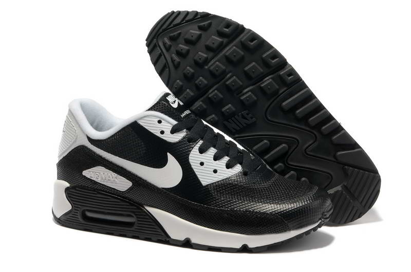 low priced d41a1 b1f96 Air Max 90 Hyperfuse Fourrure Chaussures Hommes Noir Blanc