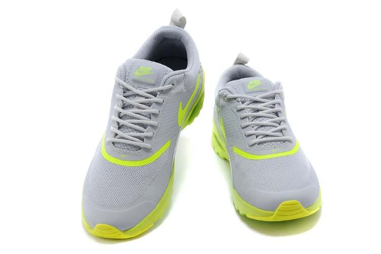 best service f51ca 900a8 nike air max thea print gris hommes jaunes chaussure nouvelle (3)