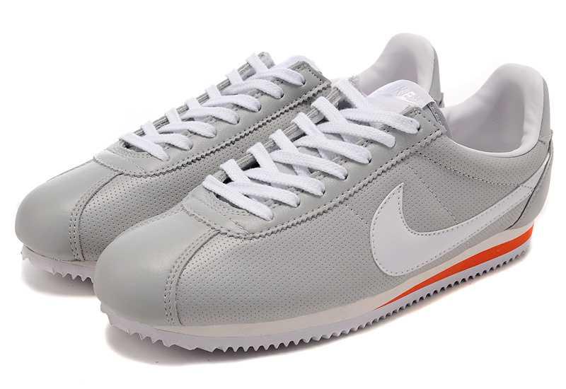 nike rétro formateurs - Nike Cortez Hommes Chaussures en cuir Gris Blanc Rouge | Comixity ...